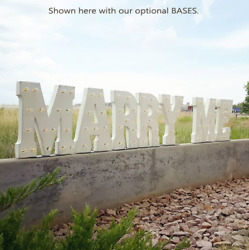 Will You Marry Me Battery Operated Rustic Metal Wedding Marquee Light Up Sign