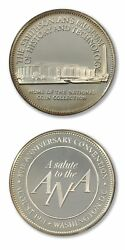 Ana 80th Anniversary Smithsonian Museum Of History/tech 1971 Medal Proof Silver