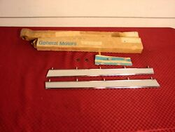 66 Olds 442 Nos Rh And Lh Chrome Grille Bar Gm Pt 393714 3933715