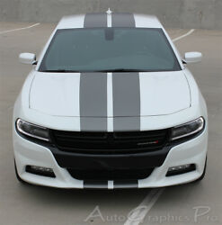N Charge 15 | 2015-2018 Dodge Charger With Center Racing Stripes 3m Wet Install