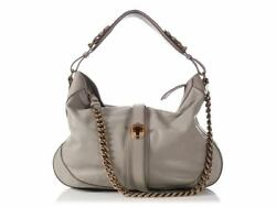 BURBERRY Gray Weatherby Hobo Bag Purse ~ Versatile and roomy!