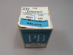 Potter And Brumfield Khs17d11 Relay 4pdt-3a 24vdc New