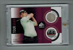 2014 Sp Game Used Golf Louis Oosthuizen Tour Gear Glove And Shirt Tag 1/2 Rare