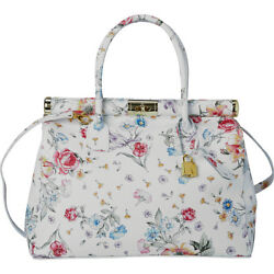 Sharo Leather Bags Floral Design Italian Leather Tote Leather Handbag NEW