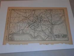 Original Map Of The Central Of Georgia Railway Company And Connections From 1899