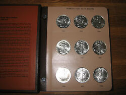 36 Coin Complete Set Silver American Eagle S In Dansco United States Dollars Gem