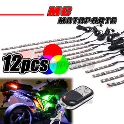 Flexible RGB Multi Color SMD 5050 LED Light Strip x12 For BMW Motorcycles