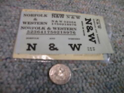 Walthers Decals O Gauge Combined Freight 74-02 Norfolk Western Black  N58