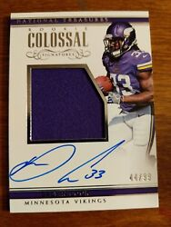 2017 National Treasures Colossal Huge Autograph Patch Dalvin Cook Vikings Sp 99