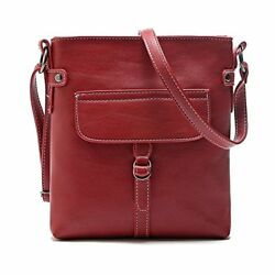 Duketea Small Crossbody Purse for Women Faux Leather Crossover Bag for Teen Red
