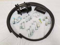 Universal 134a Air Conditioning Ac Hose Kit + Fittings Drier And Black Compressor