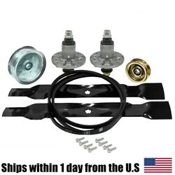Spindle Blade Belt Pulley Deck Kit For John Deere Gy21098 Gx22151 Gx20072