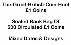 Sealed Bank Bag of 500 x Coins Mixed Dates & Designs Circulated Wholesale Lot