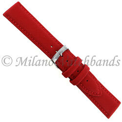 20mm Milano Mens Red Techno Canvas Texture Stitched Sport Watch Band 2778
