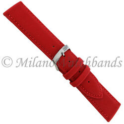 22mm Milano Mens Red Techno Canvas Texture Stitched Sport Watch Band 2778