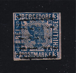 Bergedorf Stamp 4 -- 3s Coat Of Arms --1861 -- Used