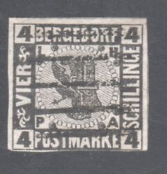 Bergedorf Stamp 5 -- 4s Coat Of Arms --1861 -- Used