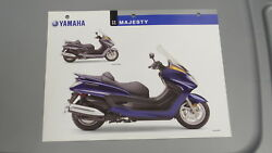 Yamaha 2005 Majesty Dealers Sales Specifications Chart Data Sheet Yp400 T