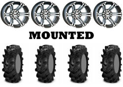 Kit 4 Itp Cryptid Tires 30x9-14/30x11-14 On Itp Ss212 Machined Wheels Vik