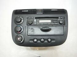 2004 HONDA CIVIC EX COUPE AT DASH CLIMATE CONTROL SWITCHES RADIO CD PLAYER OEM