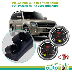 Pillar Pod W/ 2in1 Diesel Boost Ext Temp And Dual Volts Gauge Pajero Ns-nx 2006 On