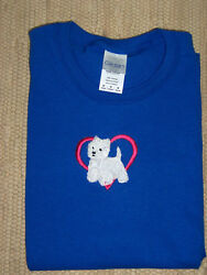 Westie West Highland White Terrier Royal Blue Ladies Tee
