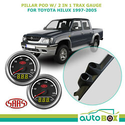 Pillar Pod W/ 2in1 Boost Ext Temp And Dual Volts Gauge For Toyota Hilux 1997-2005