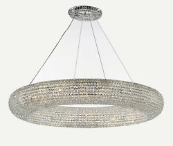 Crystal Halo Chandelier Modern / Contemporary Lighting Floating Orb 52 Wide