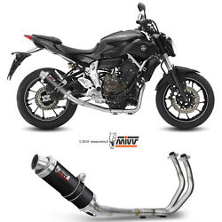 Full System Motorcycle Mivv Yamaha Mt-07 2018 18 Exhaust Gp Carbon High