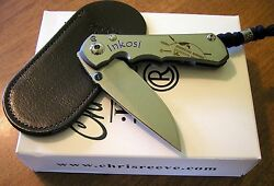 Chris Reeve New Small Inkosi First 30 Prototype W/plain S35vn Blade Knife/knives