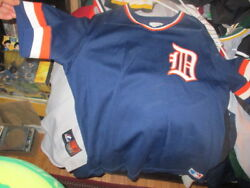 Vintage 80's Detroit Tigers Road Pullover Jersey Xl Sand Knit Screened