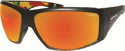 Bomber Ahi Bomb Floating Sunglasses Black With Polarized Red Mirror Lens New