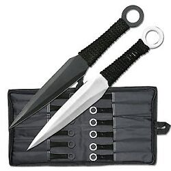 Perfect Point Throwing Knife Set W/ 12 Cord-wrapped Handle Knives And Nylon Sheath