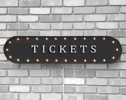 39 Tickets Ticket Booth Fair Carnival Vintage Rustic Metal Marquee Light Sign