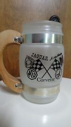 Vintage Pikes Peak Hill Climb Frosted Glass Beer Mug Siesta Ware