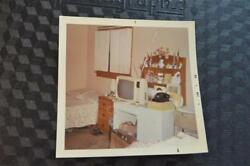 Vintage 1968 Photo Dorm Bed Room Interior w TV amp; Phone Free Shipping 302037