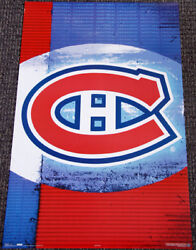 Rare Montreal Canadiens Official Nhl Hockey Logo Theme Art Wall Poster C.2006