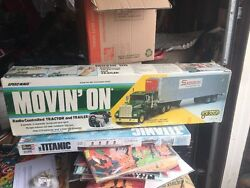 Vintage Movin On Radio Controlled Tractor Trailer Galoob Made In Japan Complete