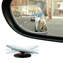 HD Frameless Blind Spot Mirror Fan Shaped 2.5quot; Convex Glass Mirror Pack of 2