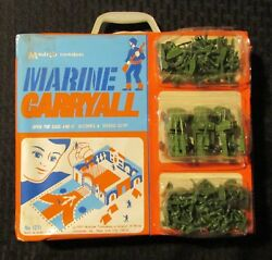 1970 Marine Carryall Playset Case 1211 Multiple Toymakers Fn- Sealed Accesories