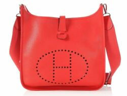 HERMES Rouge Tomate Clemence Evelyne III GM Bag Purse ~ Large and in charge!