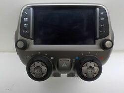 2013-2015 Chevrolet Camaro Audio and Climate Control Panel With GPS Display OEM
