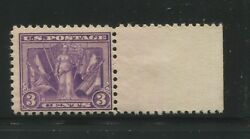 1919 Us 3 Cent Postage Stamp 537a Mint Never Hinged F/vf Original Gum Certified