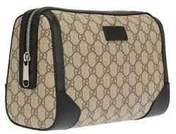 NEW GUCCI LUXURY GG GUCCISSIMA SUPREME TOILETRY COSMETIC TRAVEL BAG CLUTCH CASE