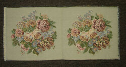 Peony Flower Bouquet Authentic Italian Tapestry in Cream Background
