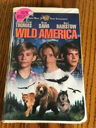 Wild America Vhs In Clam Shell Case Starring Jonathan Taylor Thomas