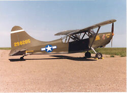 Giant 1/4 Scale American Ww-ii Stinson L-5 Plans And Templates 102ws