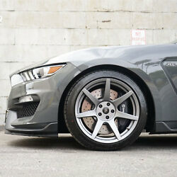 Project 6gr Seven R-spec 19x11/11.5 Satin Graphite Wheels For S550 Shelby Gt350r