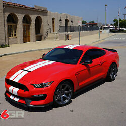 Project 6gr Seven R-spec 19x11 Satin Graphite Wheels For S550 Shelby Gt350r