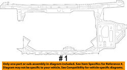 CHRYSLER OEM 07-10 Sebring-Radiator Support 68378862AA